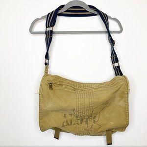 American Eagle Canvas Messenger Bag Tan